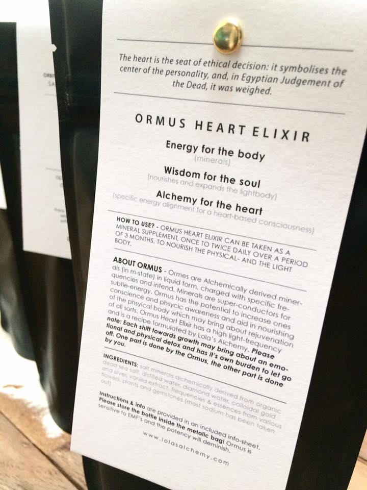 ORMUS HEART ELIXIR – from the mind into the heart! | Lola's Alchemy